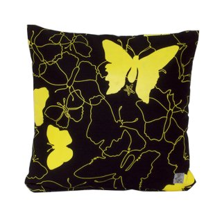 クッションカバー BUTTERFLY (Black/Yellow)