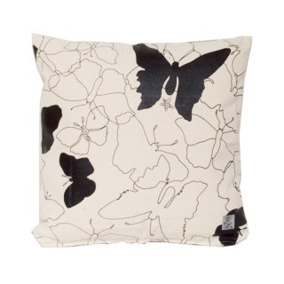 <strong>【SALE 30%OFF】</strong> クッションカバー BUTTERFLY (Cream/Black)