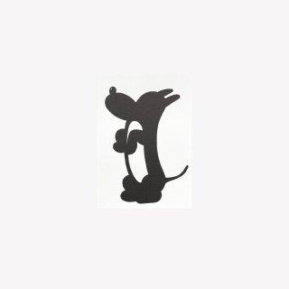 ポストカード Sit, G, in'he cute (Black)