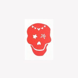 ポストカード  LOVE SKULL  (Red)