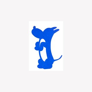 ポストカード Sit, G, in'he cute (Blue)