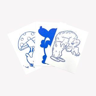 『GASIUS』3点セット Mush/Sit, G, in'he cute/Monster (Blue)