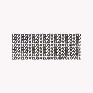 手ぬぐい LOVE LOVE LOVE (Black)