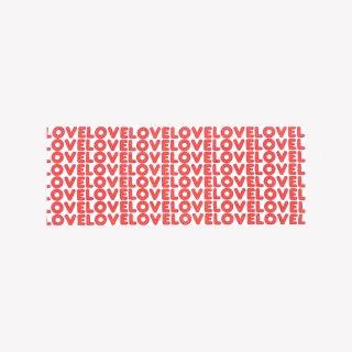 手ぬぐい LOVE LOVE LOVE (Red)