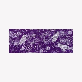 手ぬぐい Mehndi Hands (Royal Purple)
