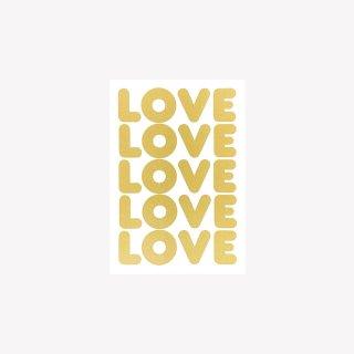 ポストカード  LOVE LOVE LOVE (Gold)