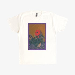 ART ZOO Tee 『STRAIGHT FLOWER』 White
