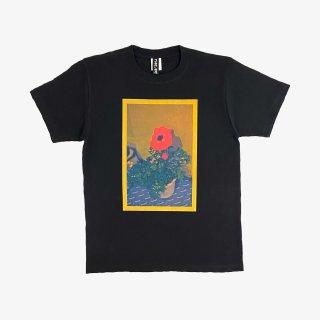 ART ZOO Tee 『STRAIGHT FLOWER』 Black
