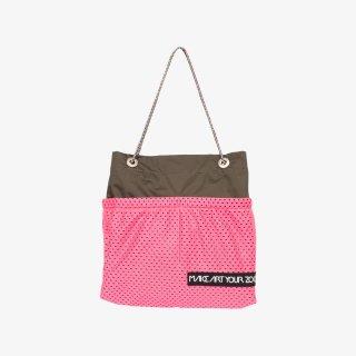 ホッピングコードショッパーワイド Sサイズ (Olive/Pink)