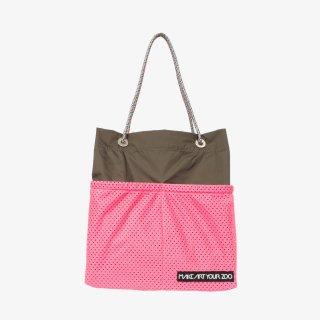 ホッピングコードショッパーワイド Mサイズ (Olive/Pink)