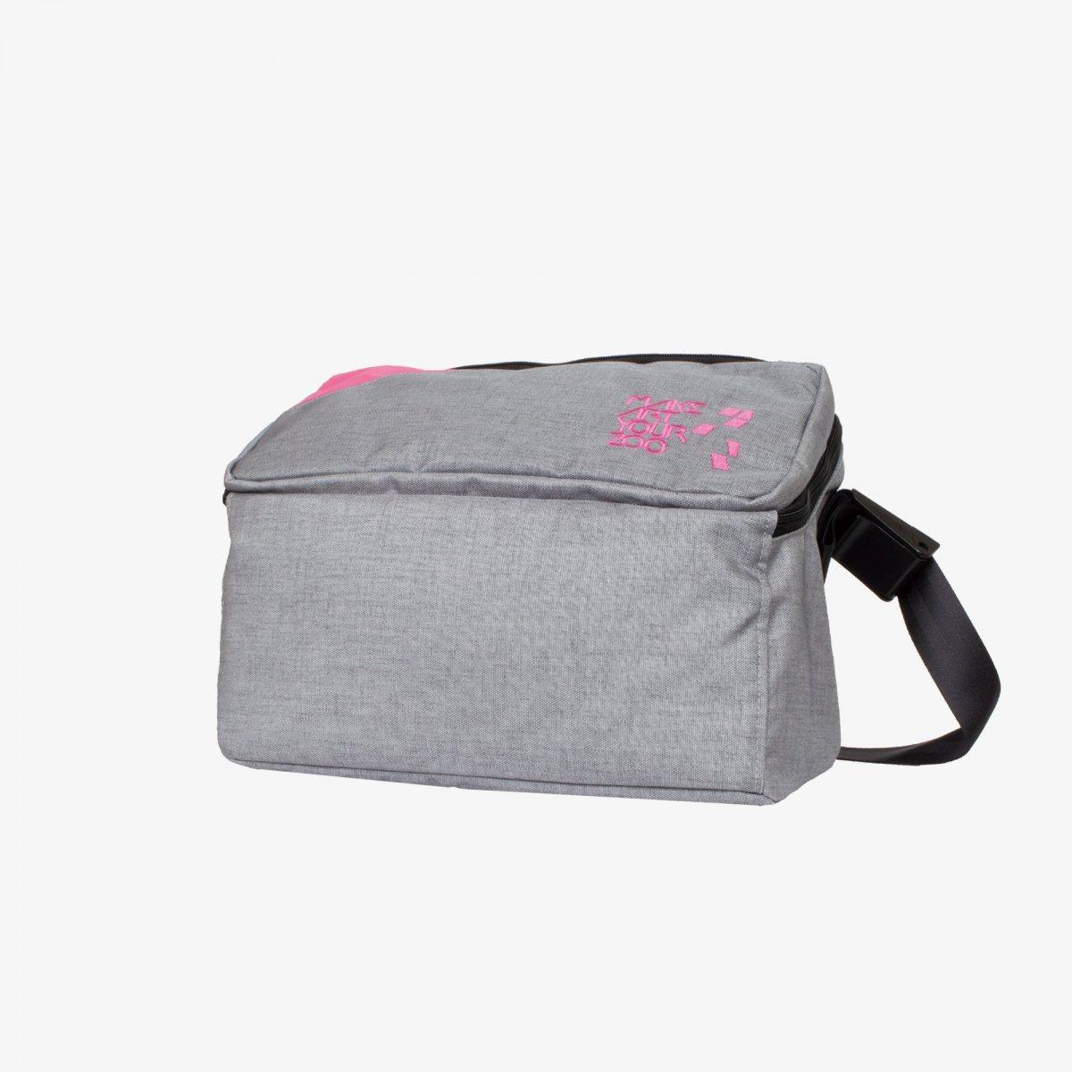 37342bf90a00 メッセンジャーバッグ Mサイズ (Gray/Pink) - 軽いユニセックスのバッグ ...