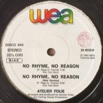 Atelier Folie - No Rhyme, No Reason