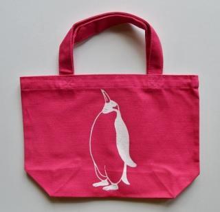 ペンギントートバッグ、ピンク、penguin, キャンバス、小