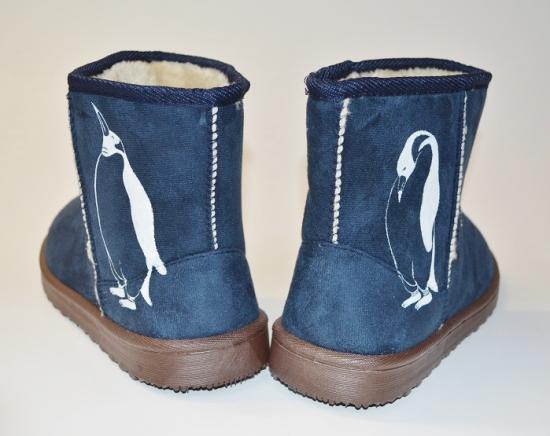 ペンギン ボア ブーツ、ネイビー