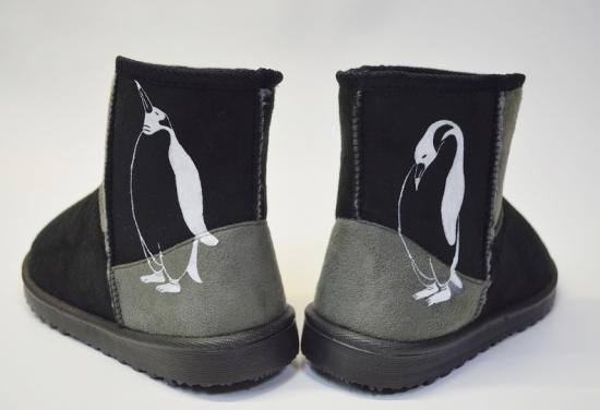 ペンギン ボア ブーツ、コンビ