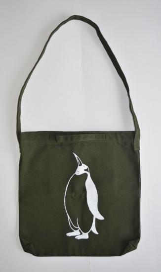 ペンギン ショルダーバッグ、オリーブ