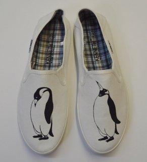 ペンギン スリッポン メンズシューズ、 ホワイト