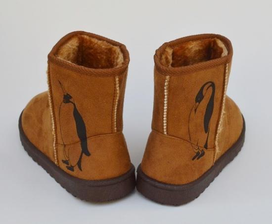 ペンギン ボア ブーツ、キャメル