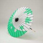 紙傘64cm 短柄 紅葉 / 緑