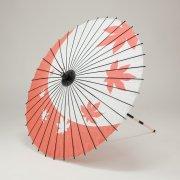 紙傘76cm 紅葉 / 朱色