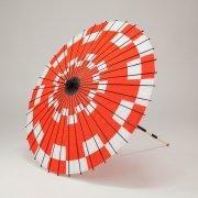 紙傘76cm 市松 / 赤