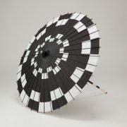 紙傘76cm 市松 / 黒