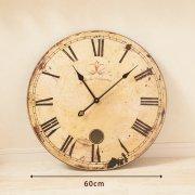 アンティークデザイン・ウォールクロック-60cm