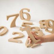 ウッドナンバーH17cm「0~9」セット