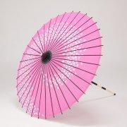 布和傘76cm  花渦 / ピンク