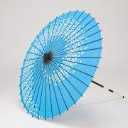 布和傘76cm  花渦 / 水色
