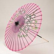 絹傘90cm  花柄 / ピンク