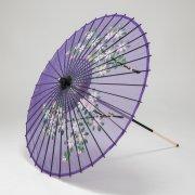 絹傘90cm  花柄 / 紫