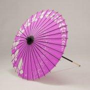 紙傘64cm  ちょうちょ / 赤紫