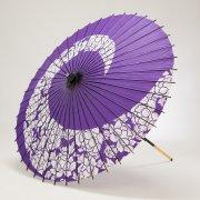紙傘85cm 牡丹渦 / 紫