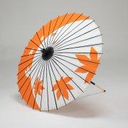 紙傘64cm 短柄 紅葉 / オレンジ