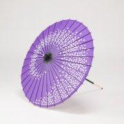 紙傘64cm 短柄 花渦 / 紫