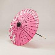 紙傘64cm ちょうちょ / ピンク