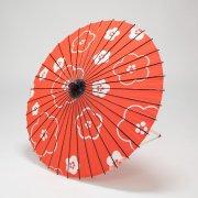 紙傘76cm モダン梅 / 赤
