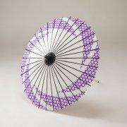 紙傘64cm 短柄 絞りかのこ / 青紫