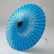 紙傘70cm  花渦 / 青