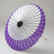 紙傘70cm  月奴桜流し(つきやっこさくらながし) / 紫