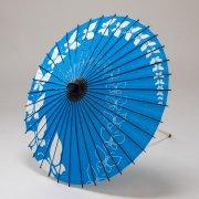 紙傘70cm  蝶々 / 青