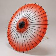 紙傘70cm  網点(あみてん)ぼかし / 赤
