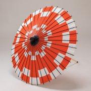 紙傘70cm  市松 / 赤