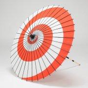 紙傘76cm 渦巻 / 紅白