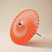 紙傘64cm 花渦 / 赤