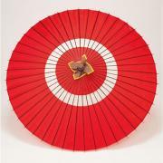 蛇の目傘 105cm 助六 / 赤