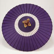 蛇の目傘 105cm 助六 / 紫