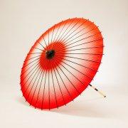 紙傘76cm 網点ぼかし / 赤