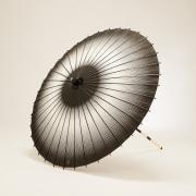 紙傘76cm 網点ぼかし / 黒